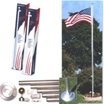 "20' REGAL flagpole, sectional alum, satin, 2"" diameter"